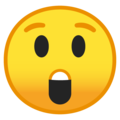 astonished face emoji on google android