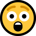 astonished face emoji on microsoft windows
