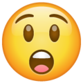 astonished face emoji on whatsapp