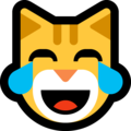 cat with tears of joy emoji on microsoft windows