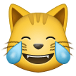 cat with tears of joy emoji on samsung
