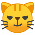 cat with wry smile emoji on google android