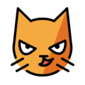 cat with wry smile emoji on openmoji