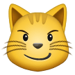 cat with wry smile emoji on samsung