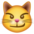 cat with wry smile emoji on whatsapp