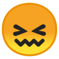 confounded face emoji on google android