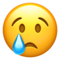 crying face emoji on apple iphone iOS