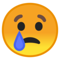 crying face emoji on google android