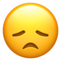 disappointed face emoji on apple iphone iOS
