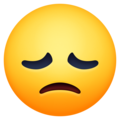 disappointed face emoji on facebook messenger