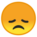 disappointed face emoji on google android