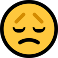 disappointed face emoji on microsoft windows