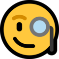 face with monocle emoji on microsoft windows