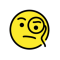 face with monocle emoji on openmoji