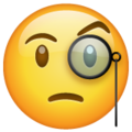 face with monocle emoji on whatsapp