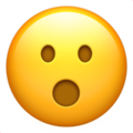 face with open mouth emoji on apple iphone iOS