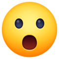 face with open mouth emoji on facebook messenger