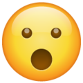 face with open mouth emoji on whatsapp