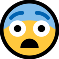 fearful face emoji on microsoft windows