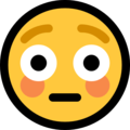 flushed face emoji on microsoft windows