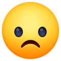 frowning face emoji on facebook messenger
