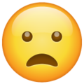 frowning face with open mouth emoji on whatsapp