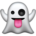 ghost emoji on apple iphone iOS