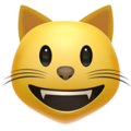 grinning cat emoji on apple iphone iOS