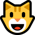 grinning cat emoji on microsoft windows