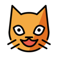 grinning cat emoji on openmoji