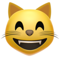 grinning cat with smiling eyes emoji on apple iphone iOS