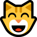 grinning cat with smiling eyes emoji on microsoft windows