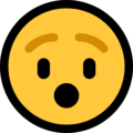 hushed face emoji on microsoft windows