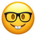 nerd face emoji on apple iphone iOS