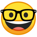 nerd face emoji on google android