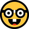 nerd face emoji on microsoft windows