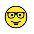 nerd face emoji on openmoji