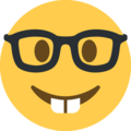 nerd face emoji on twitter (twemoji)