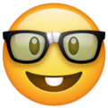 nerd face emoji on whatsapp