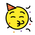 partying face emoji on openmoji
