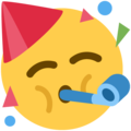partying face emoji on twitter (twemoji)