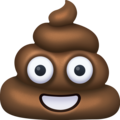 pile of poo emoji on facebook messenger