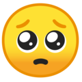 pleading face emoji on google android