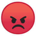 pouting face emoji on google android