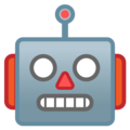 robot emoji on google android