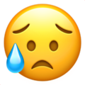 sad but relieved face emoji on apple iphone iOS
