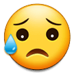 sad but relieved face emoji on samsung