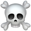 skull and crossbones emoji on apple iphone iOS