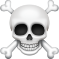 skull and crossbones emoji on facebook messenger