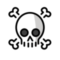 skull and crossbones emoji on openmoji